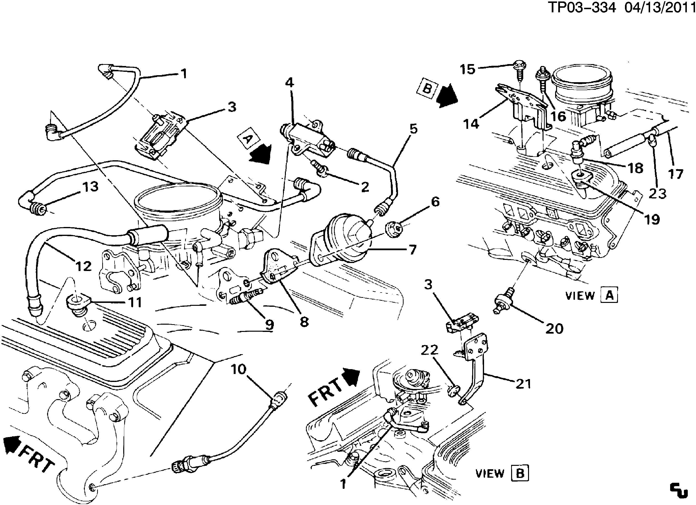 V8 Chevy Engine Schematic