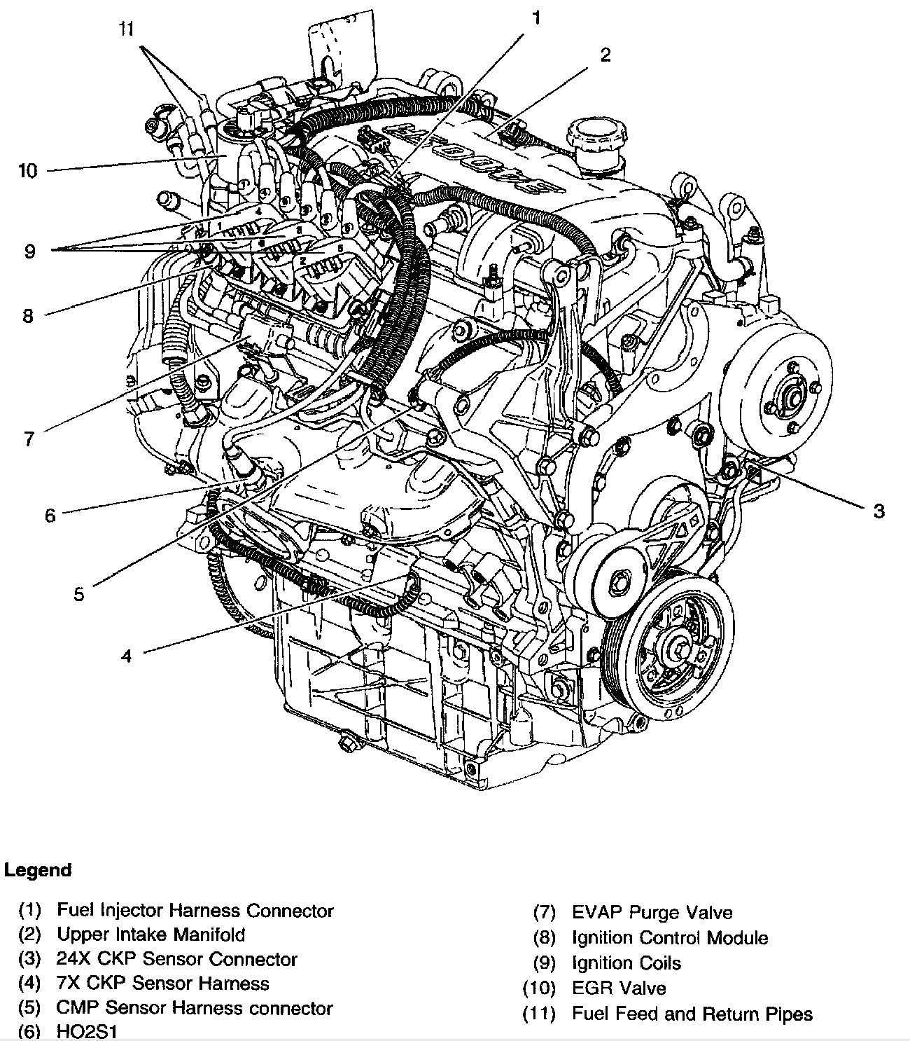 Toyota 3 4 V6 Engine Parts Diagram