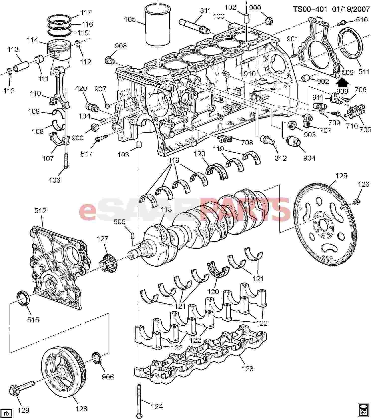 Engine Valve Parts Diagram