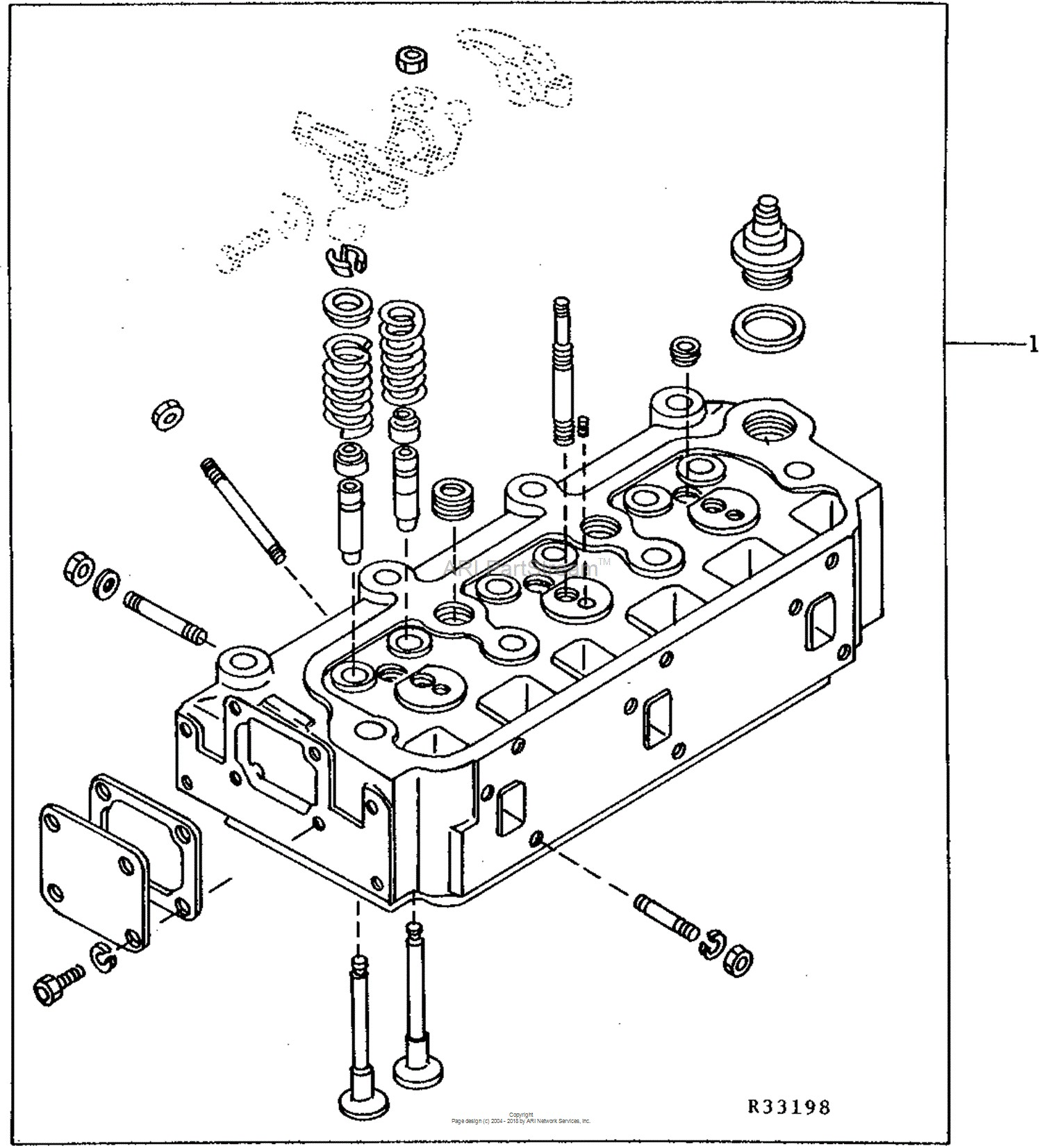 John Deere 445 Engine Diagram