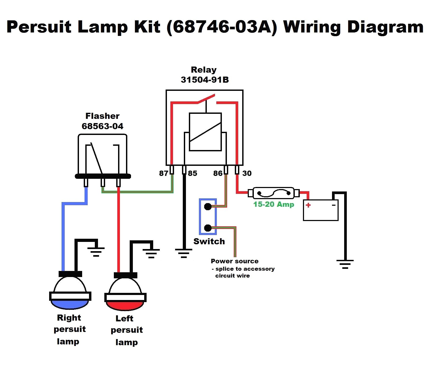 4 Way Flasher Wiring Diagram Schematic
