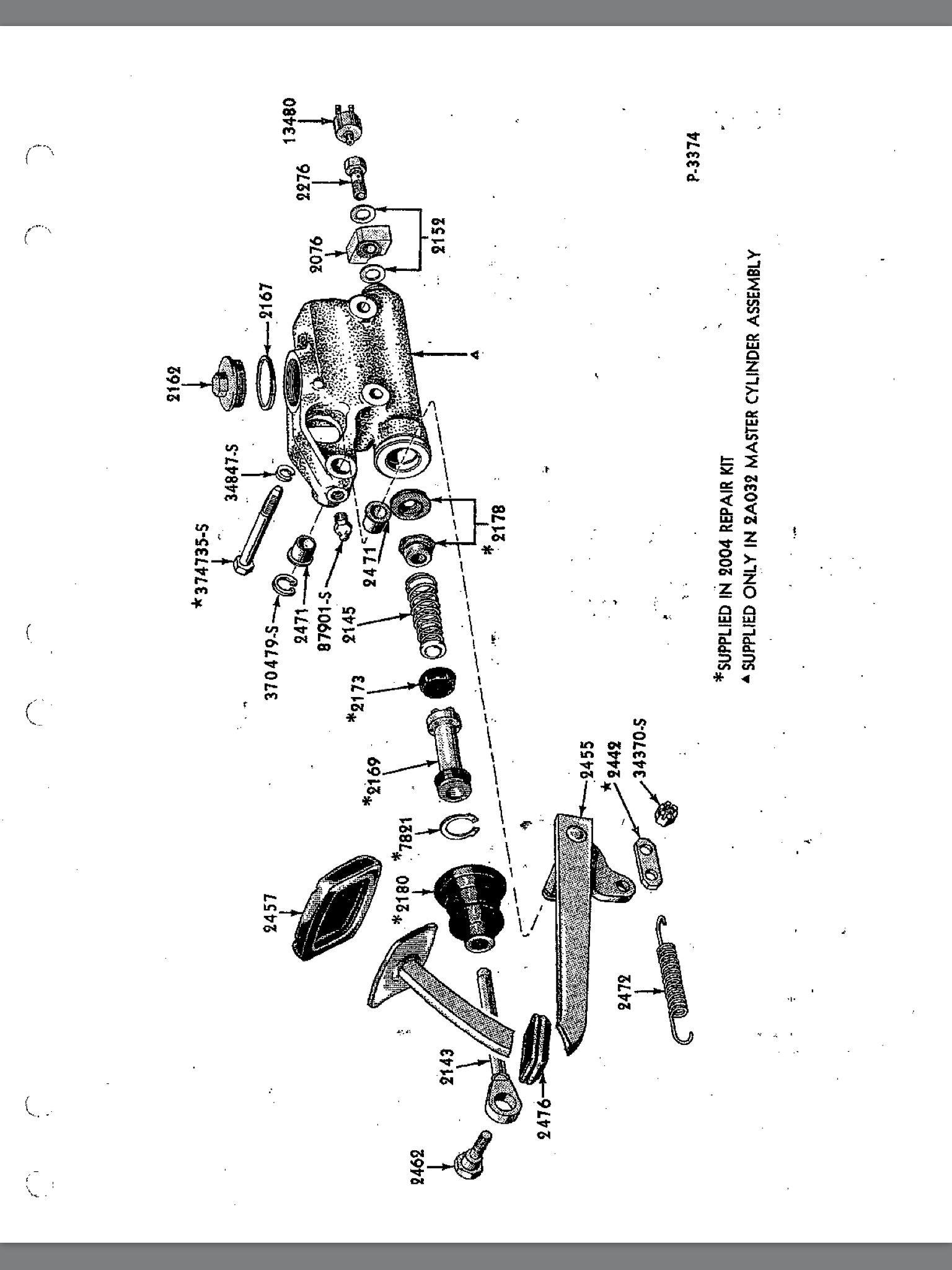Chevy Master Cylinder Diagram