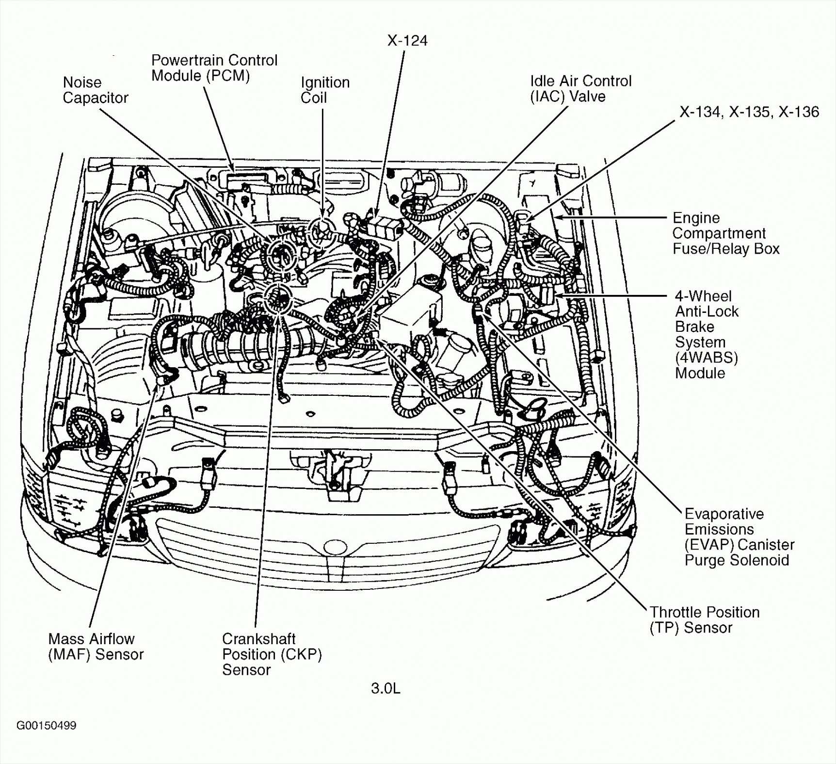 Toyota Pickup Engine Compartment Diagram