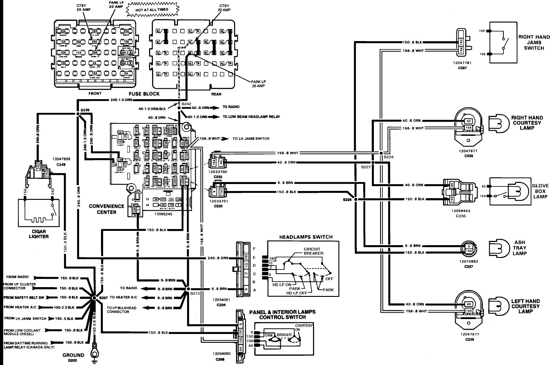 Chevy Truck Tail Light Wiring Diagram