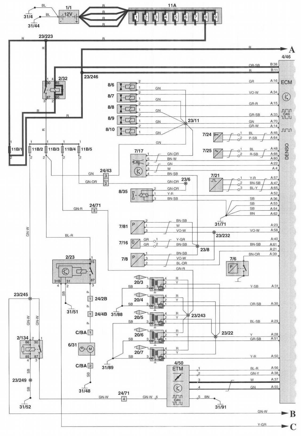 Volvo V70 Engine Diagram