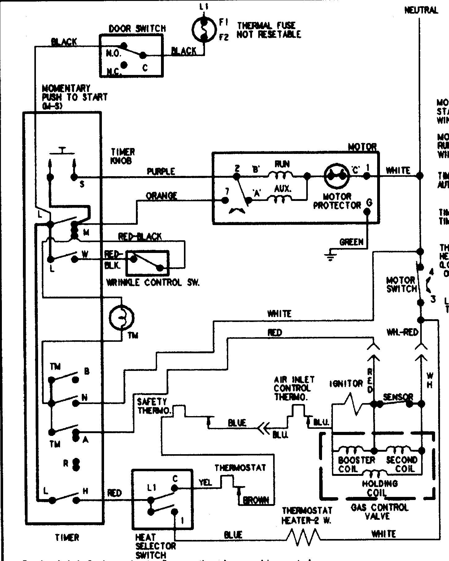 Amana Dryer Wiring Schematic