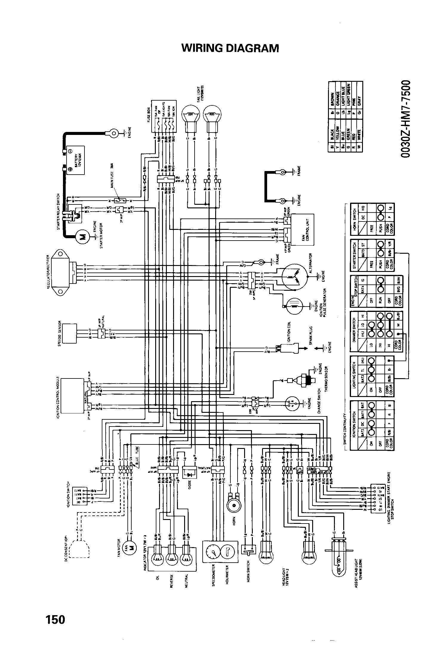Honda Trx450r Headlight Wiring Diagram