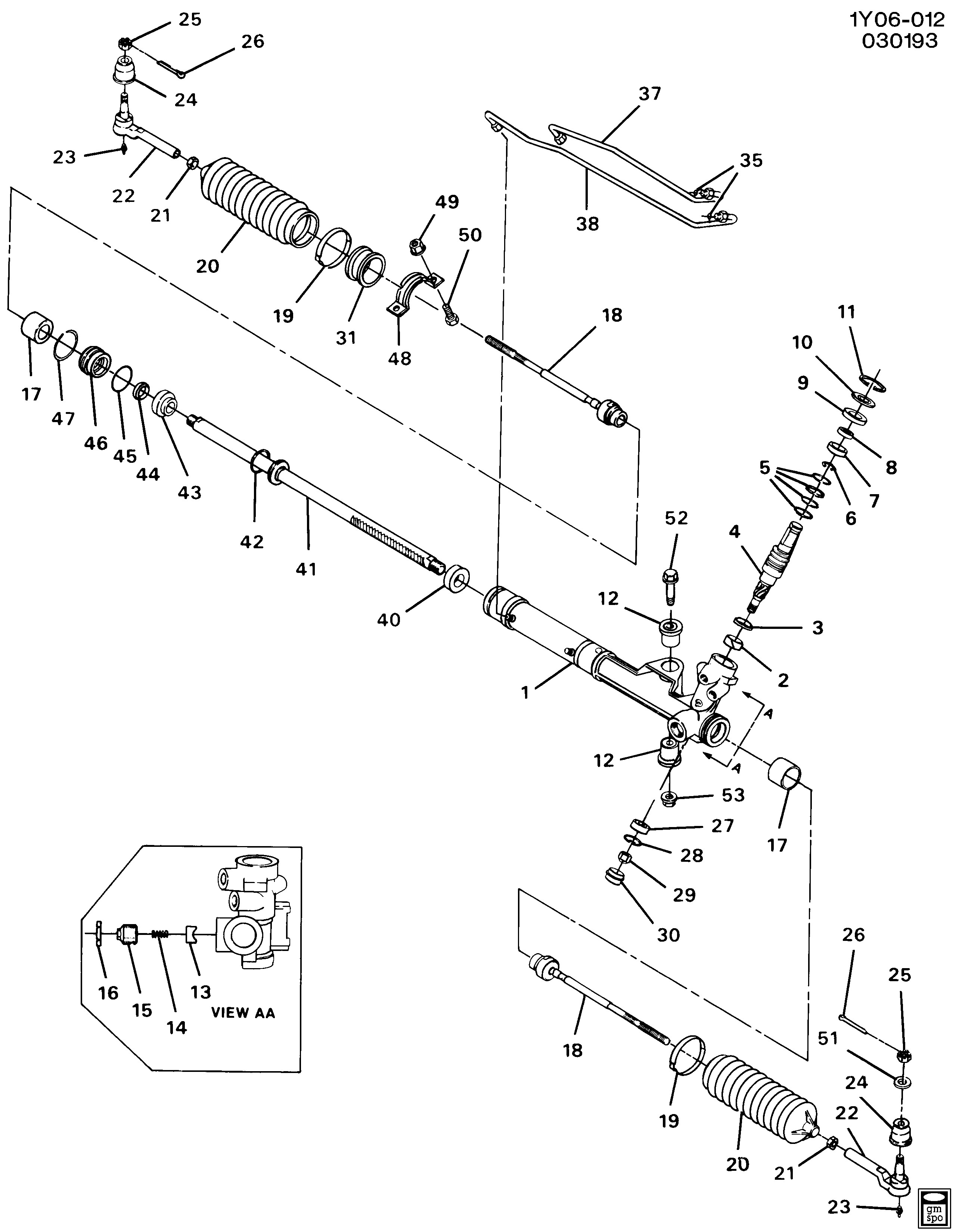 Power Steering Rack And Pinion Diagram