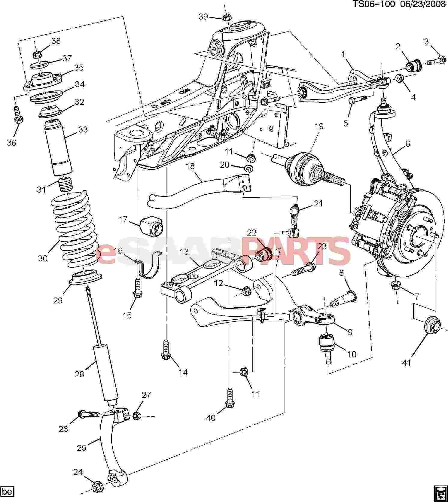 Front Wheel Drive Suspension Diagram