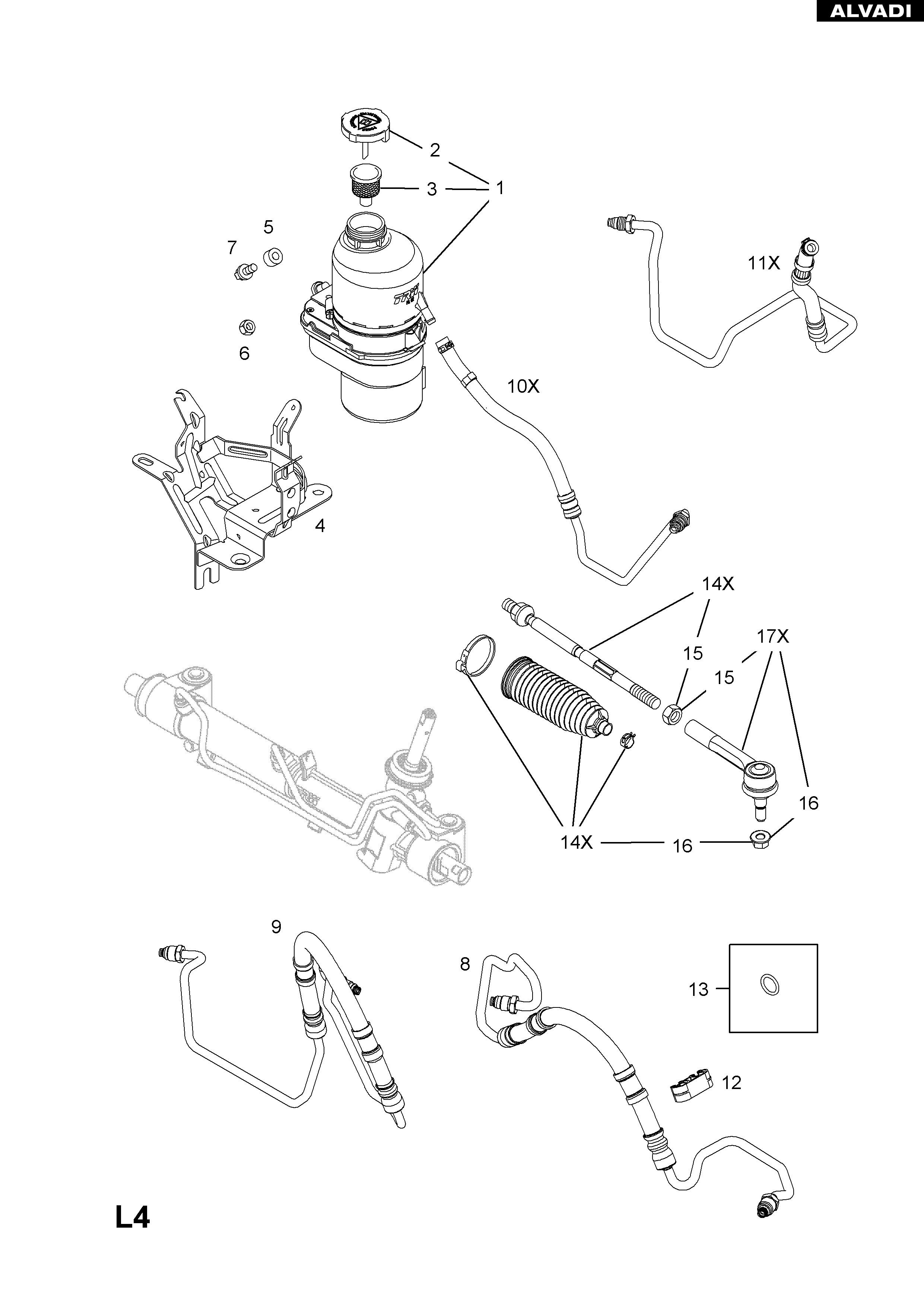 Power Steering System Diagram