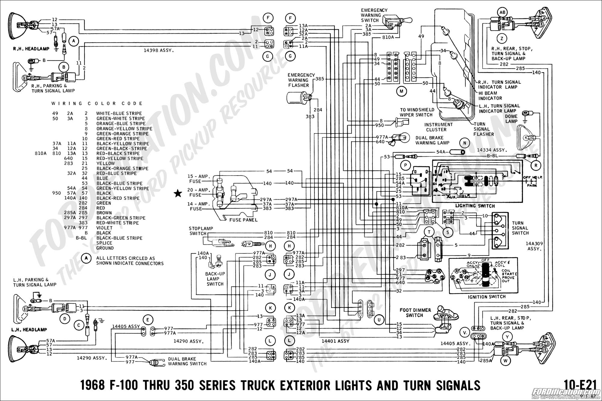 Ford 550 Tailight Diagram