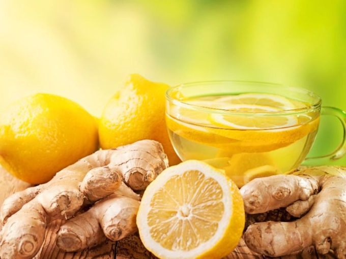 Lemon ginger detox tea