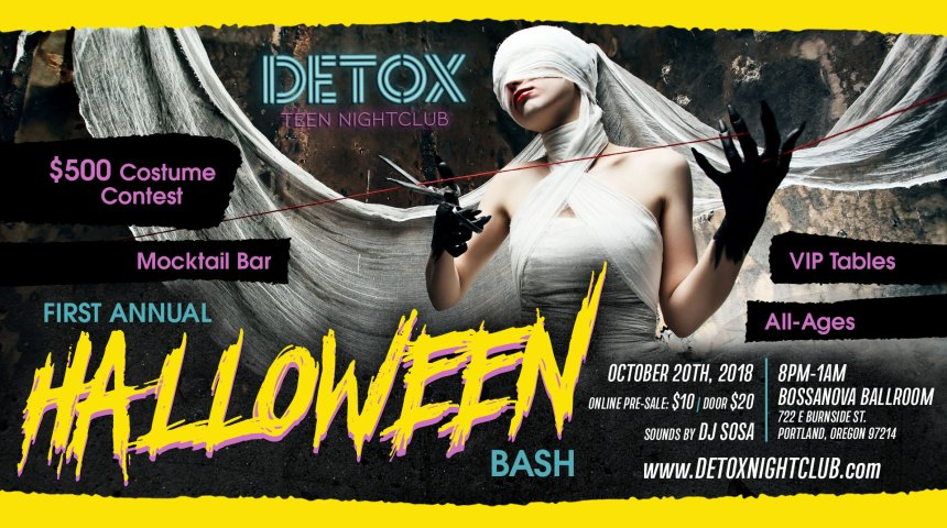 Detox Nightclub | All-Ages Halloween Party October 20th in Portland, OR