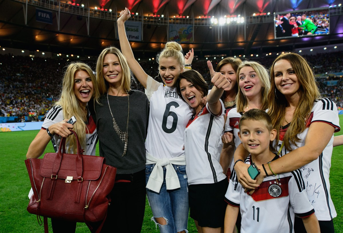 Lisa Rossenbach, Sarah Brandner, Lena Gercke, Kathrin Glich, Lisa Wesseler and Sylwia Klose (Photo by Matthias Hangst/Getty Images)