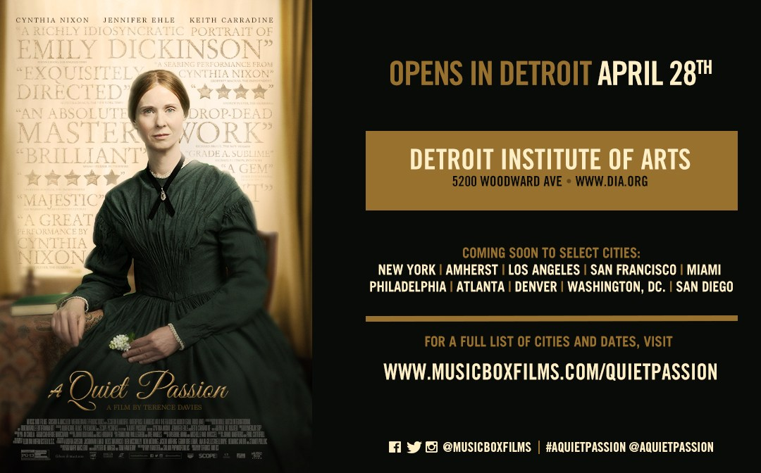 Win FREE TICKETS to see the new Emily Dickinson movie 'A Quiet Passion' at the Detroit Film Theatre!