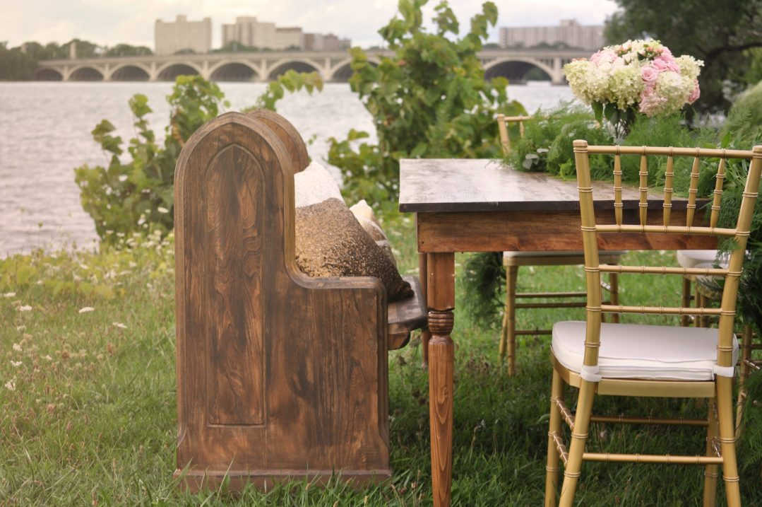 Detroit Chiavari Church Pew Farm Table Chiavari Chair