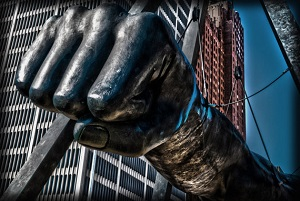 Joe Louis Fist sculpture-300px