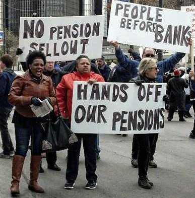 City retirees take their message to May Day march.