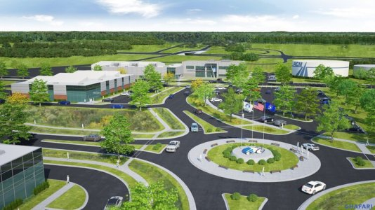 A rendering of the American Center for Mobility's planned tech park.