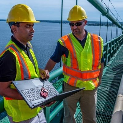 This self-powered sensor tested on the Mackinac Bridge can detect bad roads in advance