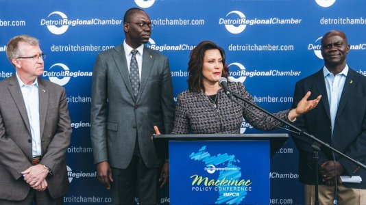 Gov. Whitmer announces the 2020 Michigan Mobility Challenge at the Mackinac Policy Conference.