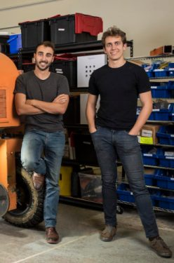 Sebastien Boyer (left), chief executive officer, and Thomas Palomares, chief technical officer of FarmWise. Photo courtesy of FarmWise.