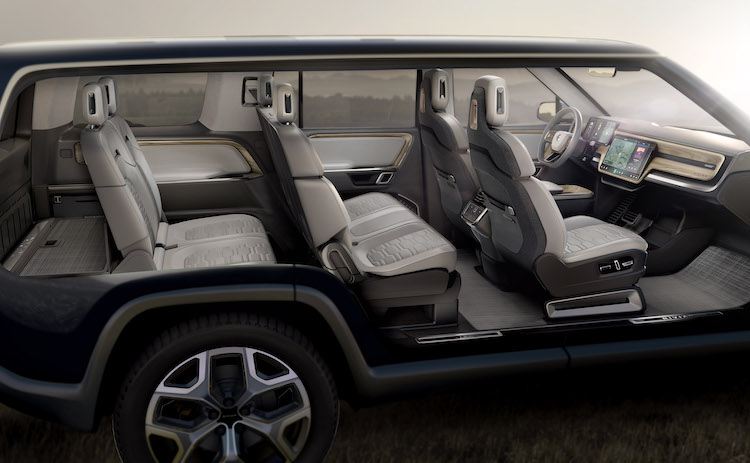 The Rivian R1S is a seven-passenger SUV with an all-electric platform and room for gear and people.