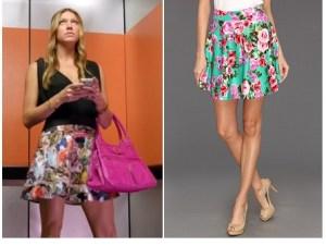 Gabriella Rocha Jeanne Floral Print Flare Skirt