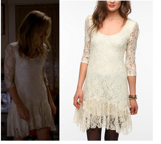 Urban Outfitters Ecote Ruffle Hem Lace Dress