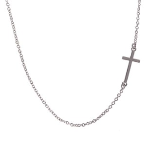 Side Ways Cross Necklace