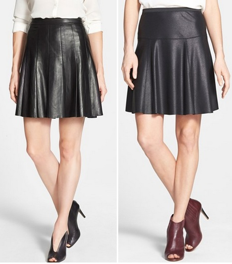 leather trophy skirts