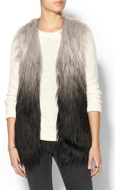 faux fur ombre vest