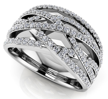 Prong Set Designer Diamond Anniversary Ring