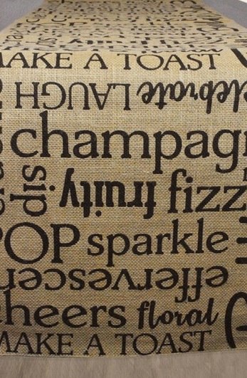 Champagne table runner