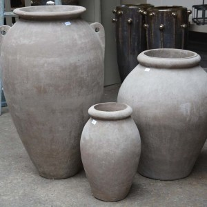 Contemporary Italian Olive Jars
