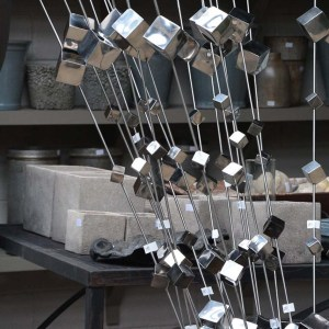 Contemporary Stainless Steel Garden Stake 2