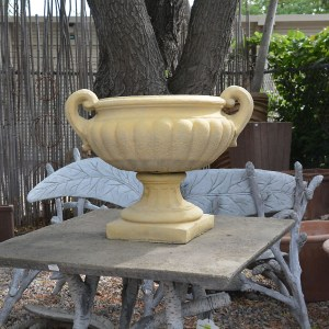 English Cast Concrete Victorian Urn