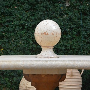 French Terracotta Ball Finial