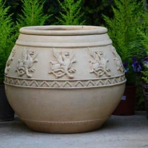 French terracotta vase chimere