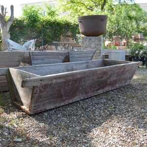 Painted Wood Trough