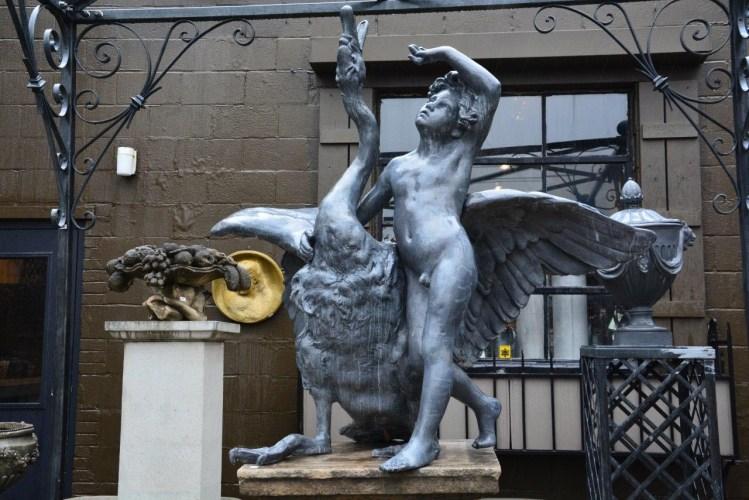 Swan Boy Fountain