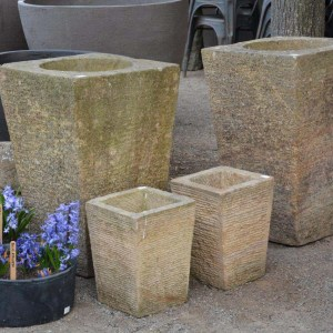 Tapered Stone Planters