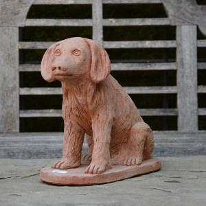 Terra Cotta Sitting Dog Main