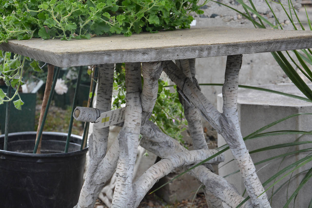 The Branch Studio Hand Carved Concrete Faux Bois Table