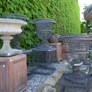 Wire Urn With Matching Pedestal