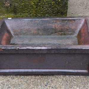 antique Scottish glazed stoneware trough