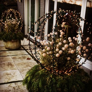 Lighted Winter Containers