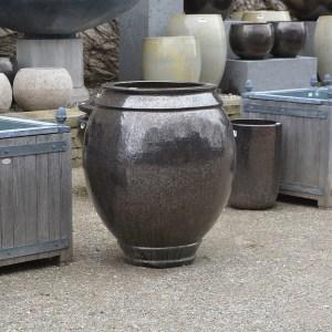 Glazed Tall Jar