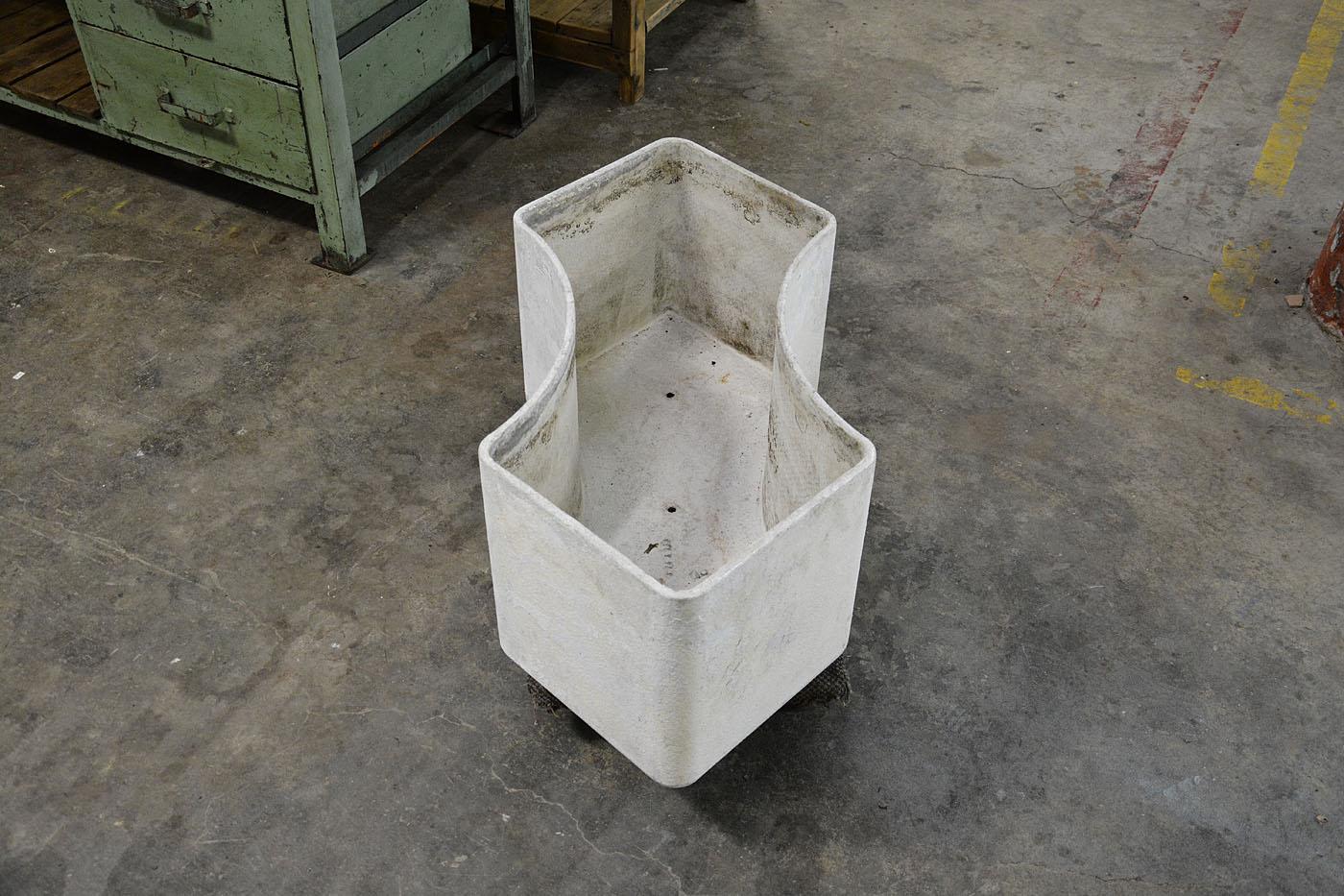 mid century french concrete planter