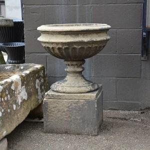 Sandstone Urn on Pedestal 2